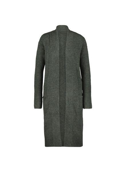 women's knitted cardigan dark green dark green - 1000014791 - hema