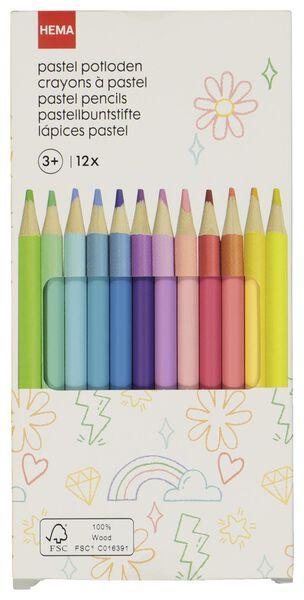 12 colouring pencils pastel - 15990188 - hema