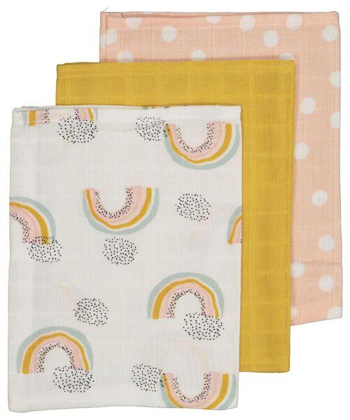 3-pack muslin wash mitts - 33344530 - hema