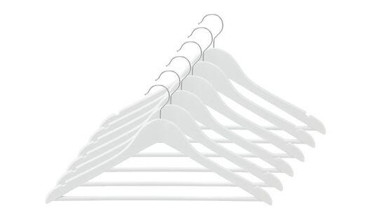 6 cintres en bois blanc - 39811004 - HEMA