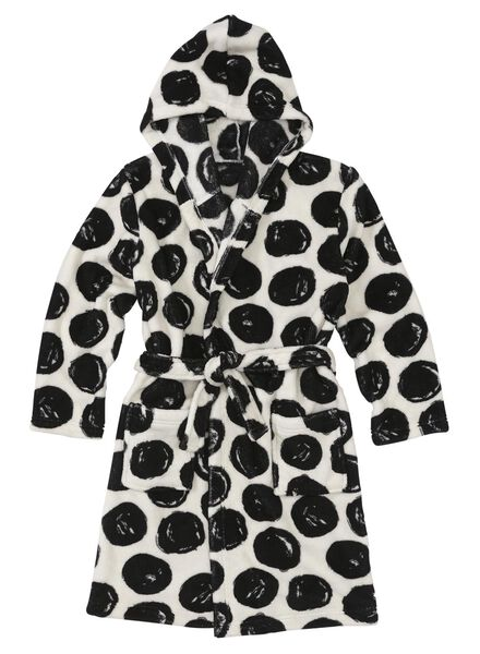 children's bathrobe black/white black/white - 1000006650 - hema