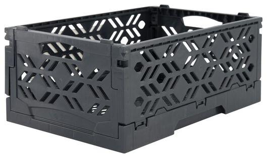 Klappkiste, recycelt, 16 x 24 x 10 cm, dunkelgrau - 39821056 - HEMA