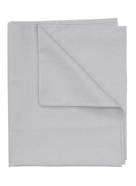 drap - 150 x 255 - coton doux - gris clair - 5100022 - HEMA