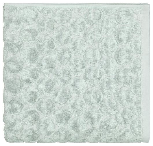 towel - 50 x 100 cm - heavy quality - powder green dotted - 5210085 - hema