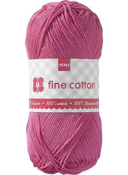 Strickgarn, Fine Cotton Fine Cotton rosa - 1400013 - HEMA