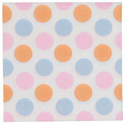 20er-Pack Servietten, 24 x 24 cm, Punkte - 14230192 - HEMA