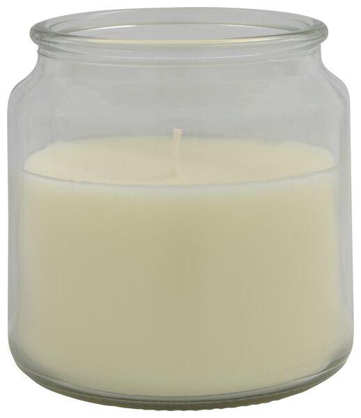 bougie dans un verre Ø10x10 ivoire - 13502583 - HEMA