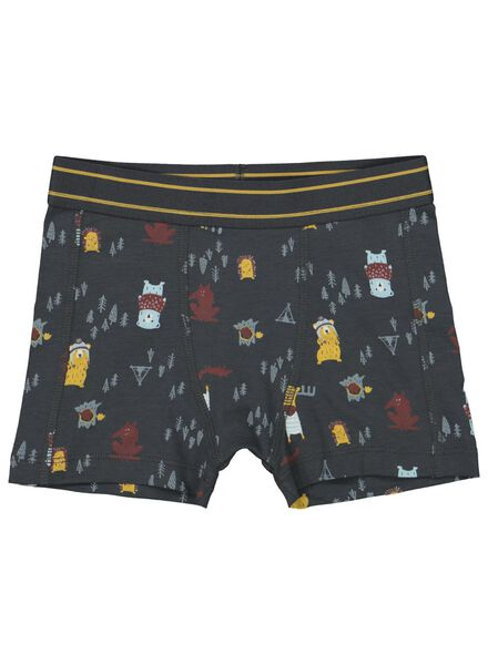 2-pack children's boxers anthracite anthracite - 1000016866 - hema