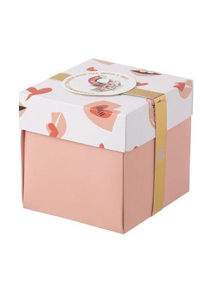boîte surprise medium 10 x 10 x 10 cm - 60800610 - HEMA