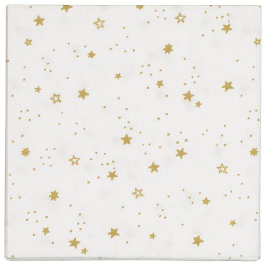 20 serviettes 33x33 paper - gold stars - 25600158 - hema