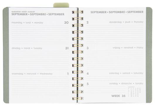 agenda à spirale 2021 - 18.5x14 - multilingue feuilles - 14622213 - HEMA