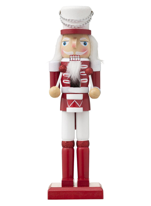 25 cm Argent Casse-noisette soldat Poupée Traditionnel de Noël décoration de Noël Décor
