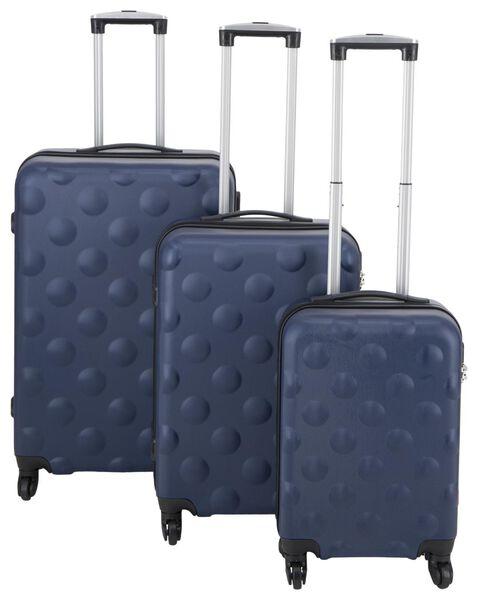 HEMA Koffer, 67 X 44 X 25 Cm, Struktur, Dunkelblau