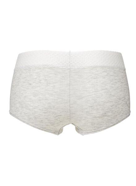 women's boxer shorts grey melange grey melange - 1000006566 - hema