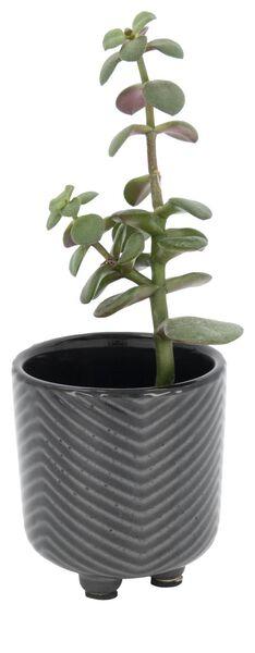 pot de fleurs Ø 6,5 cm - céramique - noir/blanc - 13392065 - HEMA