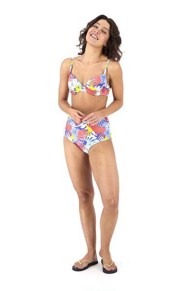 Bademode - HEMA Damen Bikinislip, High Waist Blau  - Onlineshop HEMA