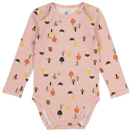 Baby-Body Pilze, Biobaumwolle, Stretchkomfort altrosa altrosa - 1000020438 - HEMA