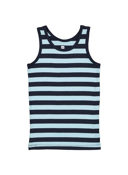 2-pack children's vests with bamboo blue 122/128 - 19250424 - hema