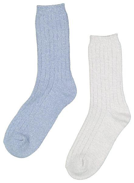 2-pack women's sock slippers dark blue dark blue - 1000016645 - hema