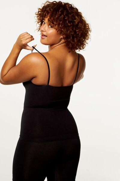 Damen-Hemd mit Bambus, leicht figurformend schwarz schwarz - 1000021222 - HEMA