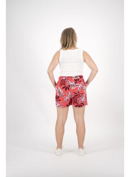 Damen-Shorts rot rot - 1000013599 - HEMA