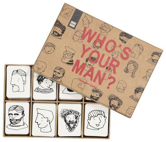 memory spel - who's your man? - 60200444 - HEMA