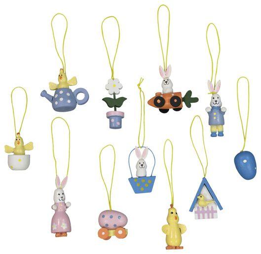 Image of HEMA 12 Wooden Hangers Animals