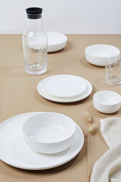 assiette plate - 26 cm - Rome - new bone - blanche - 9602042 - HEMA