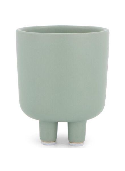 bloempot Ø 6.5 cm - keramiek - groen - 13392061 - HEMA