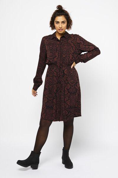Damen-Kleid, Schlangenmuster braun - HEMA