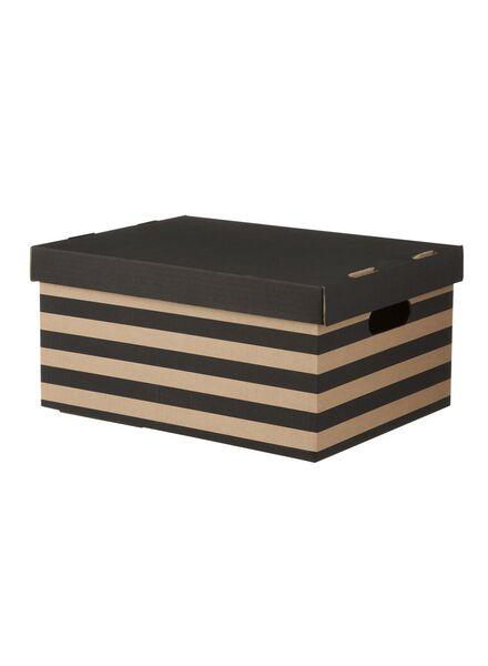 boîte de rangement en carton 28 x 37,5 x 18,5 - 39800010 - HEMA