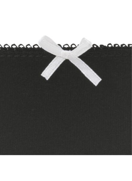 3-pack women's briefs black/white black/white - 1000007842 - hema