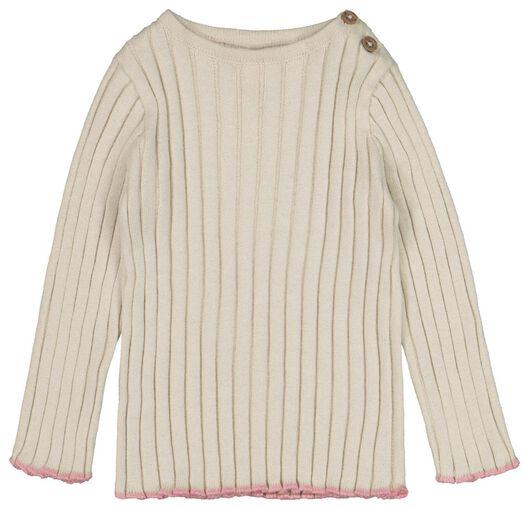 HEMA Baby-Pullover, Rippenmuster Eierschalenfarben