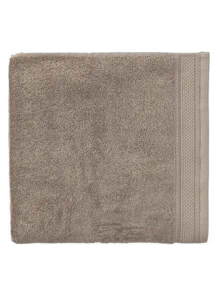 serviette de bain - 100 x 150 cm - qualité hôtel très épaisse - taupe uni - 5290056 - HEMA