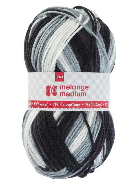 Strickgarn Medium Medium, 100 g schwarz/weiß - 1400173 - HEMA