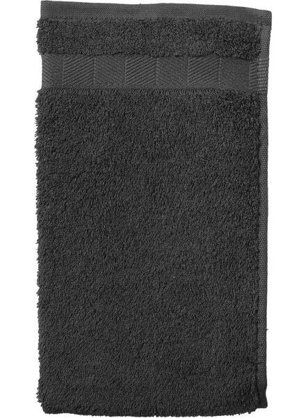 petite serviette - 30x55 cm - qualité épaisse - gris foncé - 5202602 - HEMA