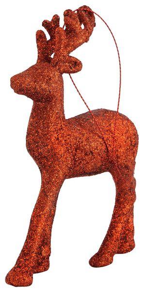 Baumschmuck, Rentier, Kunststoff, 13 cm, rot - 25103812 - HEMA