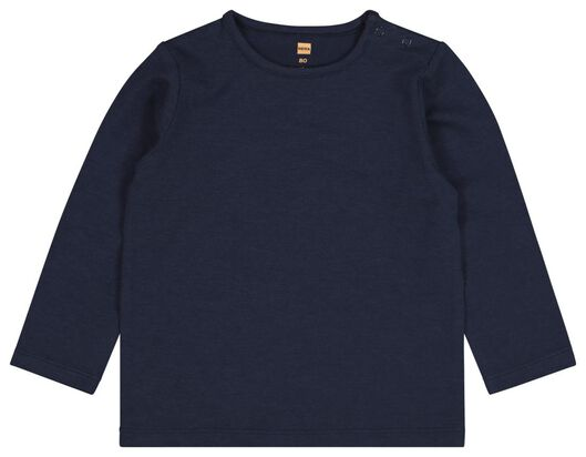 2-pack baby T-shirt with bamboo fibres dark blue dark blue - 1000020442 - hema