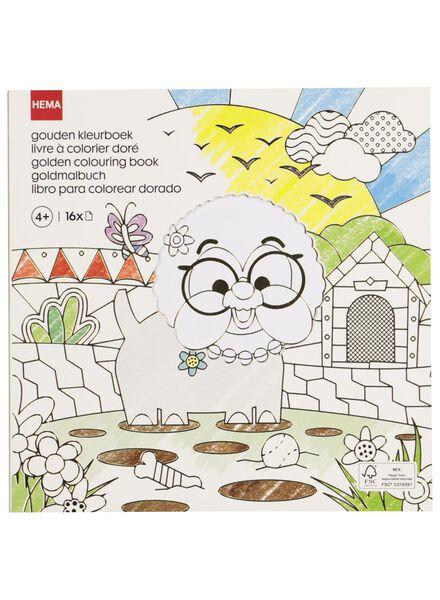 gold-coloured colouring book - 15950026 - hema