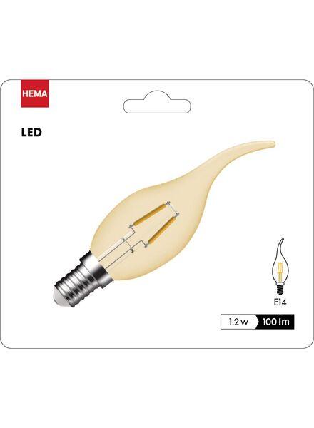 ampoule flamme LED dorée transparente 1,2 watts - petit culot - 100 lumens - 20090051 - HEMA