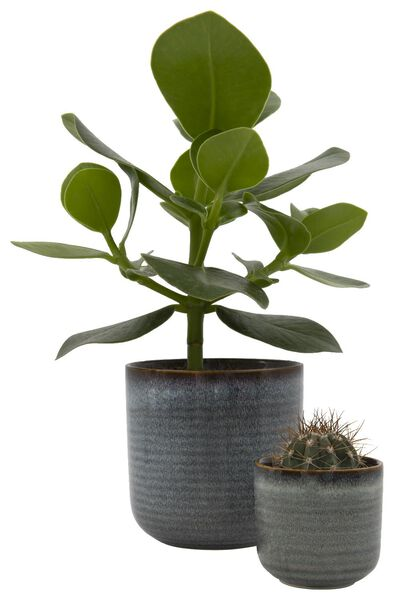 flower pot Ø11.5x11.5 earthenware reactive glaze 11.5 x 11 natural - 13311044 - hema