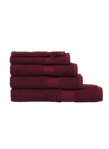 serviette de bain - 60x110 cm - qualité épaisse - bordeaux - 5220005 - HEMA