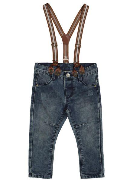 Baby-Jeans mit Hosenträgern blau blau - 1000014357 - HEMA