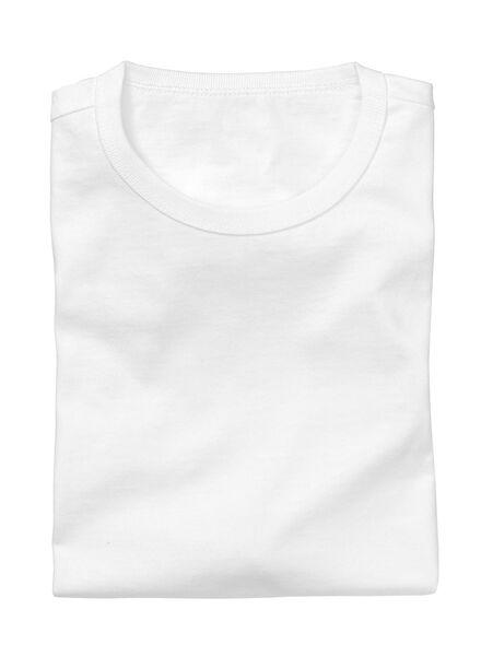 2-pack men's regular fit T-shirts white white - 1000005963 - hema