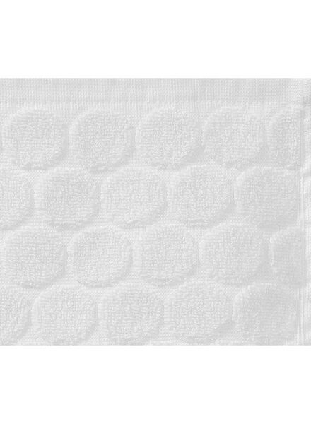 towel - 70 x 140 cm - heavy quality - white dotted white towel 70 x 140 - 5240171 - hema