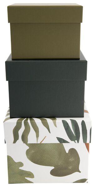 3er-Pack Pappschachteln, Blattmuster - 39812010 - HEMA