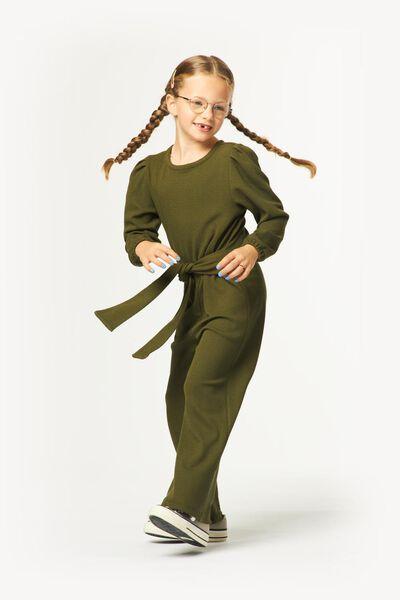 combinaison enfant relief vert armée vert armée - 1000024693 - HEMA