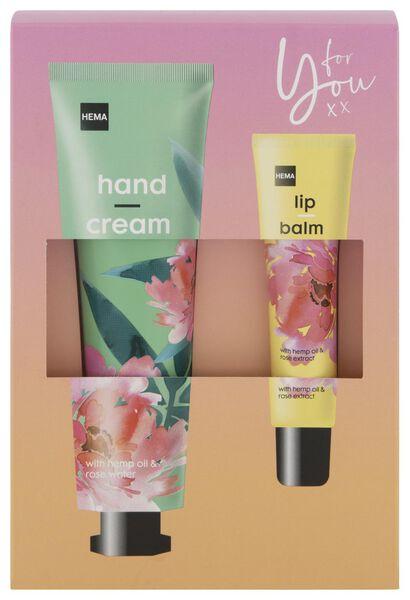handcrème en lippenbalsem 65ml/15ml - 11330110 - HEMA