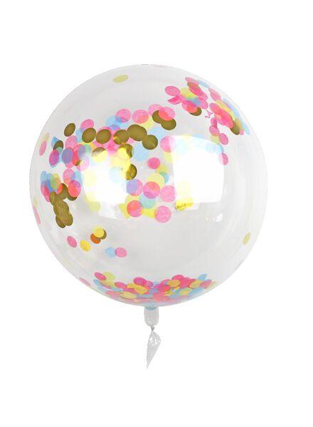 Folienballon mit Konfetti, 50 cm - 60800659 - HEMA