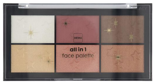 all-in-one facial palette - 11290008 - hema